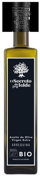 Aceite de oliva virgen extra ecológico El Secreto de Telde Arbequina